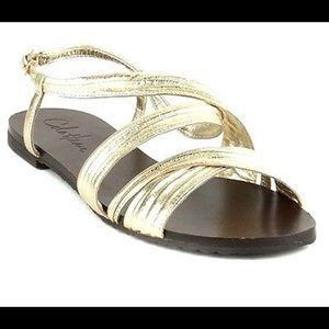 Colé Haan Gold Sandals Sz 6B - practically New